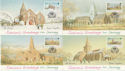 1992-11-03 Jersey Christmas Church Stamps x4 PPC FDC (62932)