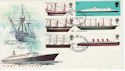 1969-01-15 British Ships Stamps Birmingham FDC (62950)