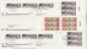 1986-11-18 Christmas Stamps Various Pmks X11 Covers (62963)
