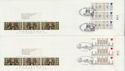 1989-11-14 Christmas Stamps T/L Margin x2 FDC (62983)