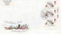1993-11-09 Christmas Stamps T/L Rochester FDC (62997)