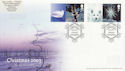 2003-11-04 Christmas Stamps + Labels Chilwell FDC (63077)