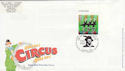 2002-04-09 Circus Stamp Raleigh Way FDC (63099)