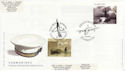 2001-04-10 Submarines Stamps Plymouth Doubled FDC (63112)