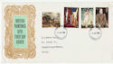 1968-08-12 British Paintings Stamps London WC FDC (63158)