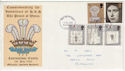 1969-07-01 Investiture Stamps Plymouth FDC (63187)