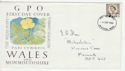 1968-09-04 Wales Definitive Stamp Newport FDC (63211)