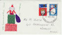 1966-12-01 Christmas Stamps London FDC (63219)