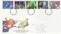 1996-09-03 TV Characters Stamps Nottingham FDC (63236)