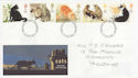 1995-01-17 Cats Stamps Darlington FDC (63244)