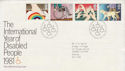 1981-03-25 Year of Disabled Stamps Bureau FDC (63341)