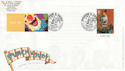 2001-09-04 Punch and Judy + LS5 Stamp Scarborough FDC (63501)
