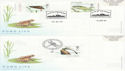 2001-07-10 Pond Life Stamps x4 SHS FDC (63531)