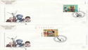 1999-04-06 Settlers Tale Stamps x4 SHS FDC (63586)