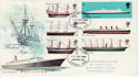 1969-01-15 British Ships Stamps Romford FDC (63665)
