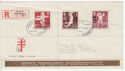 Finland 1948 Anti Tuberculosis Ovpt Stamps FDC (63699)