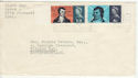 1966-01-25 Robert Burns Stamps Falmouth Slogan FDC (63732)