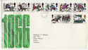 1966-10-14 Battle of Hastings Stamps Hastings FDC (63756)