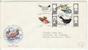 1966-08-08 British Birds Stamps London FDC (63810)