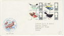 1966-08-08 British Birds Stamps Phos London FDC (63811)