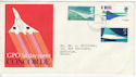 1969-03-03 Concorde Stamps Filton FDC (63824)