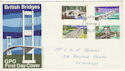 1968-04-29 British Bridges Stamps Llanelli FDC (63843)