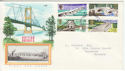 1968-04-29 British Bridges Stamps Bognor FDC (63847)