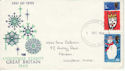 1966-12-01 Christmas Stamps London FDC (63856)