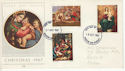 1967-10-18 Christmas Stamps Double Dated FDC (63860)