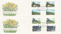 1979-03-21 British Flowers Stamps Gutters x2 FDC (63931)