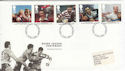 1995-10-03 Rugby League Stamps Stoke FDC (64023)