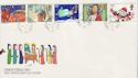 1981-11-18 Christmas Stamps Downham cds FDC (64041)