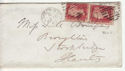 Queen Victoria Stamp Used on Cover London 1865 (64103)