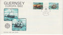1982-04-28 Guernsey Europa Ship Stamps FDC (64131)
