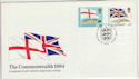 1984-04-10 Guernsey Commonwealth Flags Stamps FDC (64137)