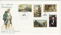 1980-11-15 Guernsey Le Lievre Paintings Stamps FDC (64172)