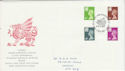 1991-12-03 Wales Definitive Stamps FDC (64235)