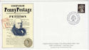 1990-01-10 Penny Black Anniv Stamp FDC (64292)