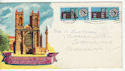 1966-02-28 Westminster Abbey Stamps Birmingham FDC (64304)