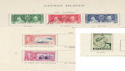 Cayman Islands KGVI Stamps on Page (64319)