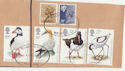1989-01-17 Birds Stamp Set Used on Piece (64397)