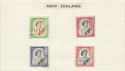 New Zealand Stamps on Page (64467)