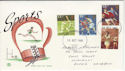 1980-10-10 Sport Stamps Llanelli FDC (64481)