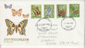 1981-05-13 Butterflies Stamps Carmarthen FDC (64484)