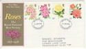 1976-06-30 Roses Stamps Gloucestershire FDC (64523)
