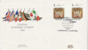 1984-06-05 London Summit Gutter Pair London SW1 FDC (64612)