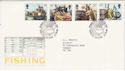1981-09-23 Fishing Industry Stamps Brixham FDC (64624)