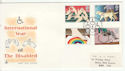 1981-03-25 Disabled Year Stamps Bureau FDC (64628)
