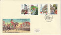 1985-07-30 Royal Mail 350th Stamps Bagshot FDC (64635)