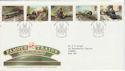 1985-01-22 Famous Trains Stamps Bristol FDC (64636)